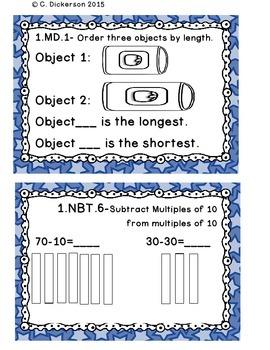 Math Task Cards for January 1st Grade Math