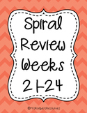4th Grade Math Spiral Review (Weeks 21-24)