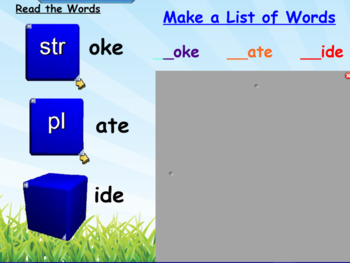 Spiral Up Phonics SMARTBOARD CVCe