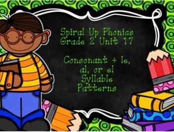 Spiral Up Phonics SMARTBOARD Unit 17 Consonant+ le, el, or al