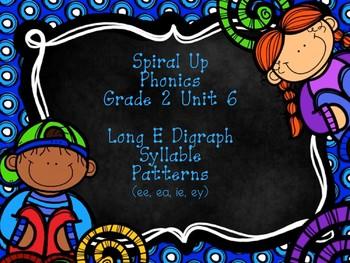 Spiral Up Phonics SMARTBOARD Unit 6 Long E Digraph