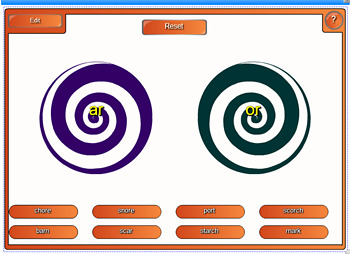 Spiral Up Phonics SMARTBOARD Unit 9 or (oar, ore)