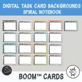 Spiral notebook Backgrounds for digital task cards - Boom Cards™