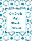 Spiraled 6th Grade Math Reviews