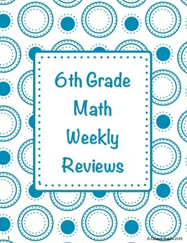 Spiraled 6th Grade Math Reviews