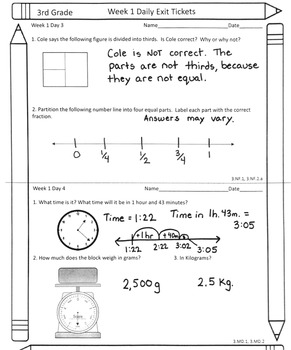 Spiraled Common Core Math Assessments 3rd Grade Entire Year (Growing Bundle)