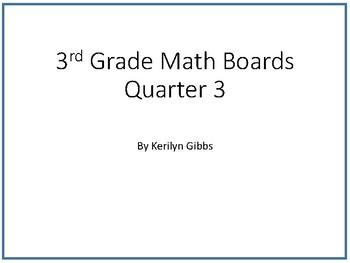 Spiraled Math Concept Boards 3rd Grade (Common Core Aligned) 18-26