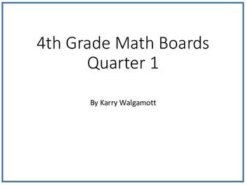 Spiraled Math Concept Boards 4th Grade (Common Core Aligned) Entire Year