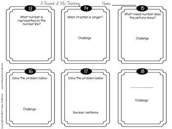"""Spiraled Math  """"Foundation Station""""  Task Cards Grade 4 Set 1"""