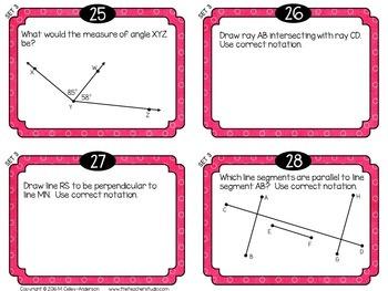 """Spiraled Math  """"Foundation Station""""  Task Cards Grade 4 Set 3"""