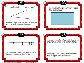 "Spiraled Math  ""Foundation Station""  Task Cards Grade 4 Sets 1-3 BUNDLE"