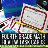 Spiraled Math Test Prep Task Cards Grade 4 Sets 1-3 BUNDLE