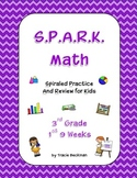 Spiraled STAAR/Common Core Math Review for 3rd Grade - 1st 9 Weeks