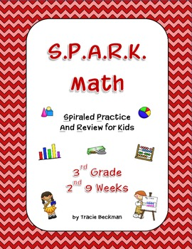 Spiraled STAAR/Common Core Math Review for 3rd Grade - 2nd 9 Weeks