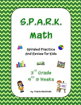 Spiraled STAAR/Common Core Math Review for 3rd Grade - 4th