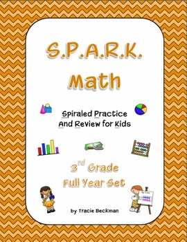 Spiraled STAAR/Common Core Math Review for 3rd Grade - Complete Full Year Set