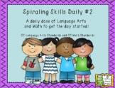 Morning Work Spiraling Skills #2
