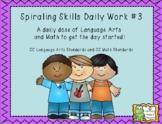 Morning Work Spiraling Skills #3