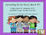 Morning Work Spiraling Skills #4