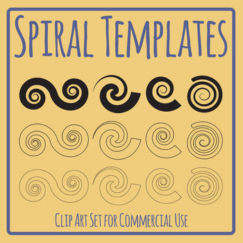 Spirals Clip Art Set for Commercial Use
