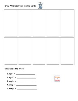 Spire Level 1 and 2 Spelling Pattern Review Lists and Homework Reading