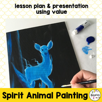 Spirit Animal Art Lesson Plan and Presentation for Middle School Art Class