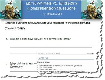 Spirit Animals Book #1: Wild Born Comprehension Questions