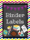 Spirit Binder Labels