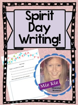 Spirit Day Writing!