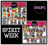 Spirit Week Clip Art Bundle {Educlips Clipart}