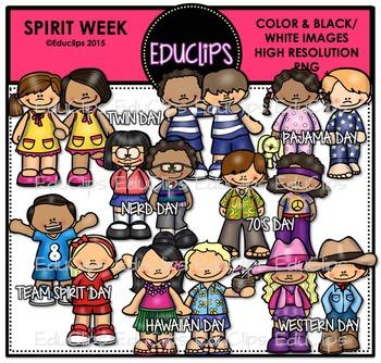 Spirit Week Clip Art Bundle {Educlips Clipart}