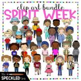 Spirit Week Clip Art. Dress Up Days. Student clip art bundle. Kids dress up