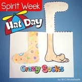 Spirit Week Crazy or Silly Sock Day and Hat Day
