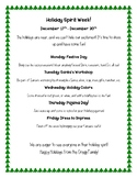 Spirit Week Flyer - Christmas holiday
