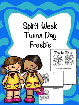 Spirit Week Twins Day -Freebie