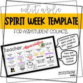 Spirit Weeks Template [Editable]