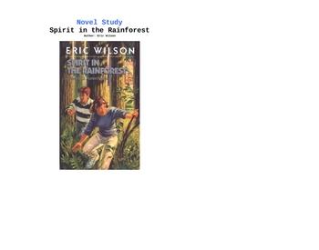 Spirit in the Rainforest by Eric Wilson Novel Study