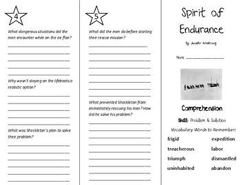 Spirit of Endurance Trifold - Treasures 5th Grade Unit 5 Week 1 (2009)