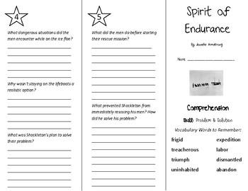 Spirit of Endurance Trifold - Treasures 5th Grade Unit 4 Week 1 (2011)