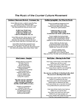 Spirit of the 60's: Hippies & The Music of Counter Culture Movement