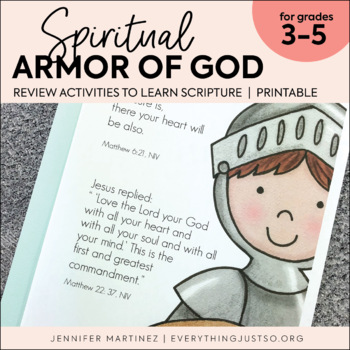 Armor of God  A Bible Unit on the Spiritual Armor of God