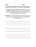 Spiritual Cleansing/ New Years worksheet
