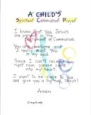 Spiritual Communion Prayer for Children