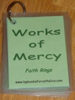 Spiritual & Corporal Works of Mercy Faith Ring