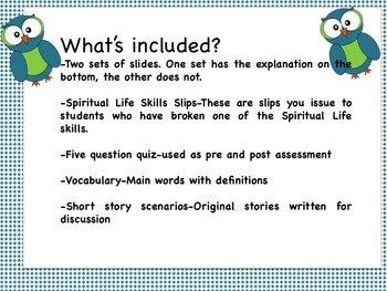 Spiritual Life Skills-Classroom Management