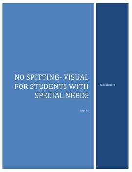 Spit, Spitting Lesson Visuals Special Education