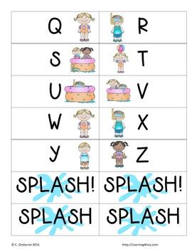 Splash: A letter recognition game