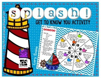 Game Board Splash! - Get-to-Know You Activity