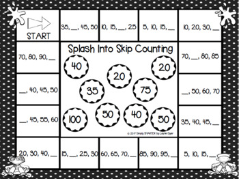Pool Party Themed Skip Counting Bump Game