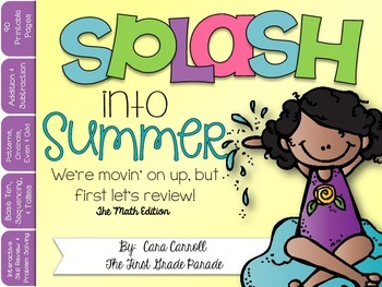 Splash Into Summer ~ Interactive Math Skill Review Printables